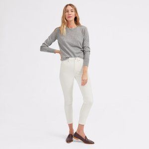 EVERLANE White Ankle Skinny High Rise Jeans EUC